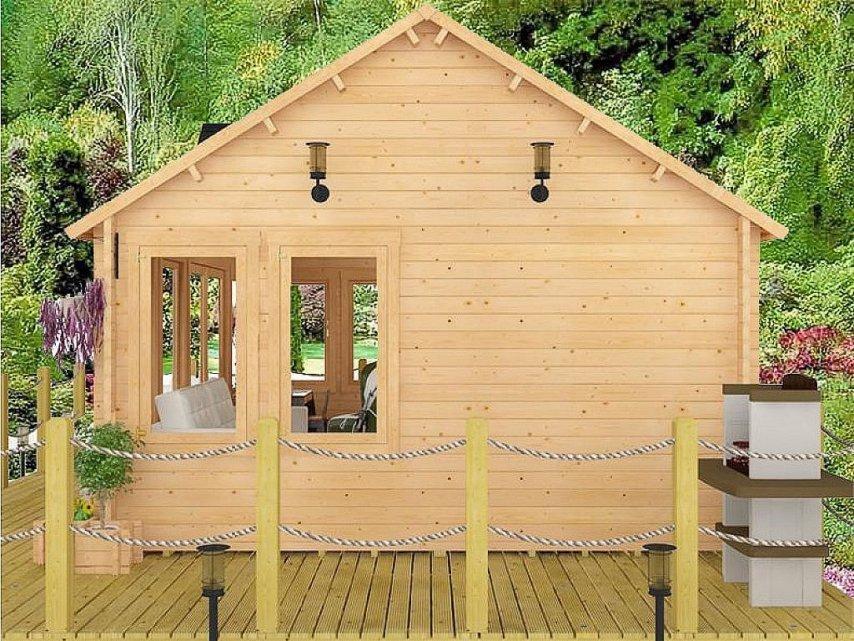 Садовый домик из мини-бруса