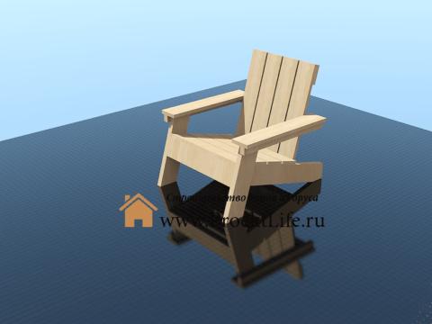 Как сделать садовый стул своими руками