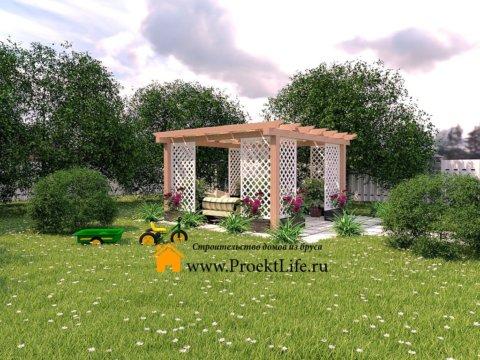 Садовая современная пергола под ключ