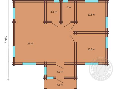 план дома из двойного мини-бруса