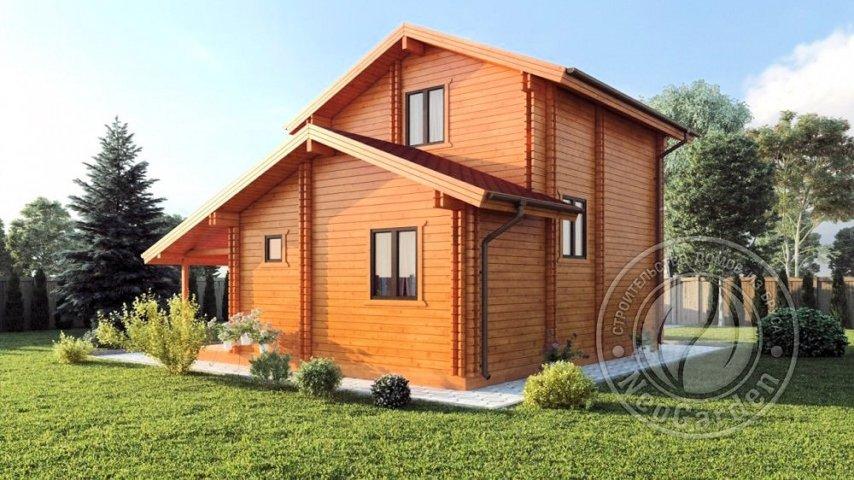"""Двухэтажный дом из двойного бруса """"Вермонт"""" спб мск"""