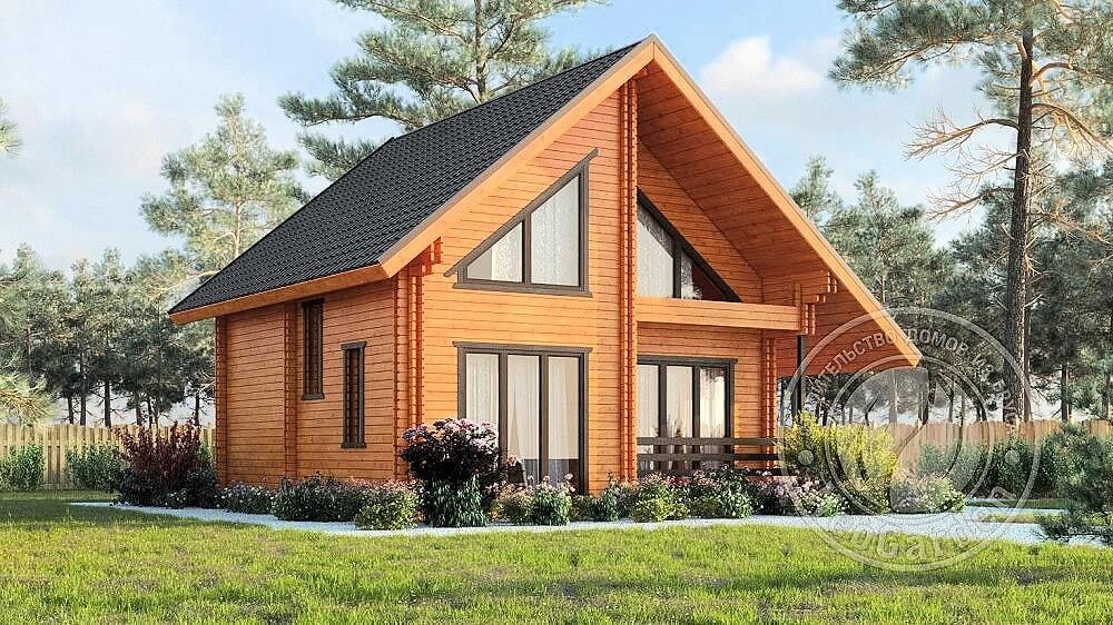 Малоэтажное строительство домов из бруса и двойного мини бруса