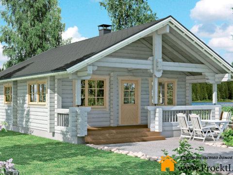 Загородный дом с баней из бруса 70 мм