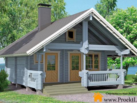 Дачный загородный дом из бруса 70 мм