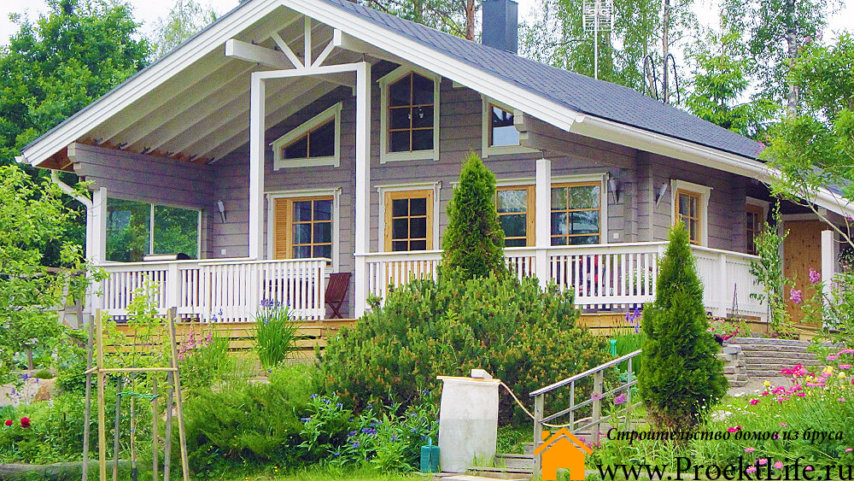 """Дом из бруса 160x160 мм """"Шале"""" готовый дом"""