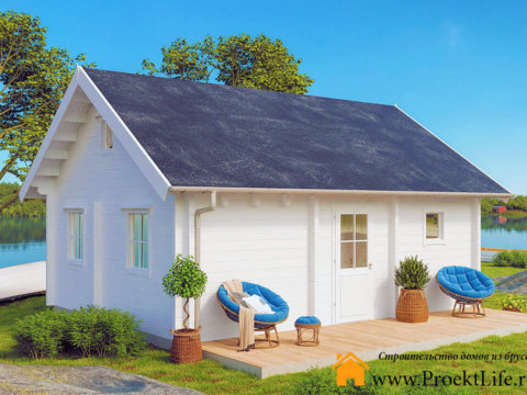 Дом из бруса 70 мм