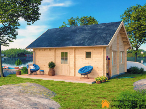 Загородный дом из бруса 70 мм
