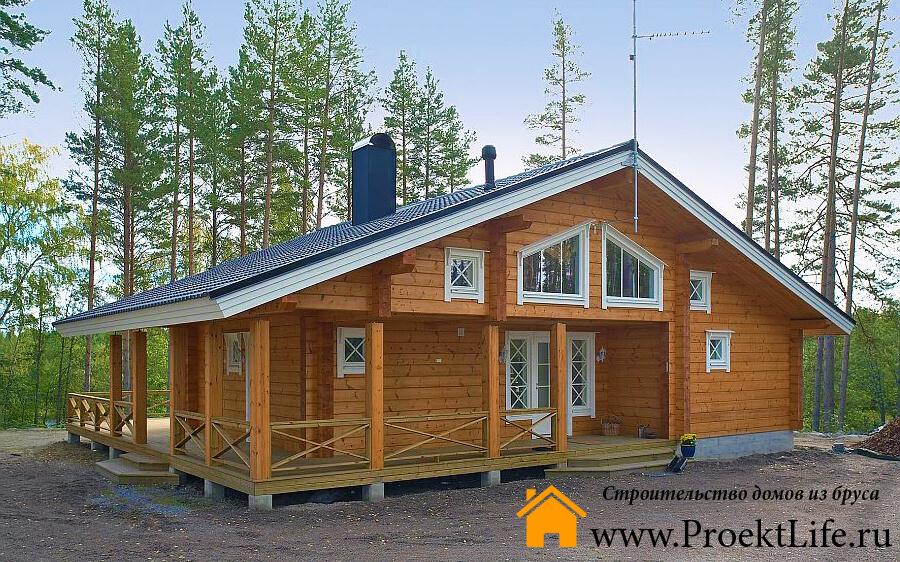 Строительство домов из бруса до 100 м/2 в Санкт-Петербурге, Москве и области
