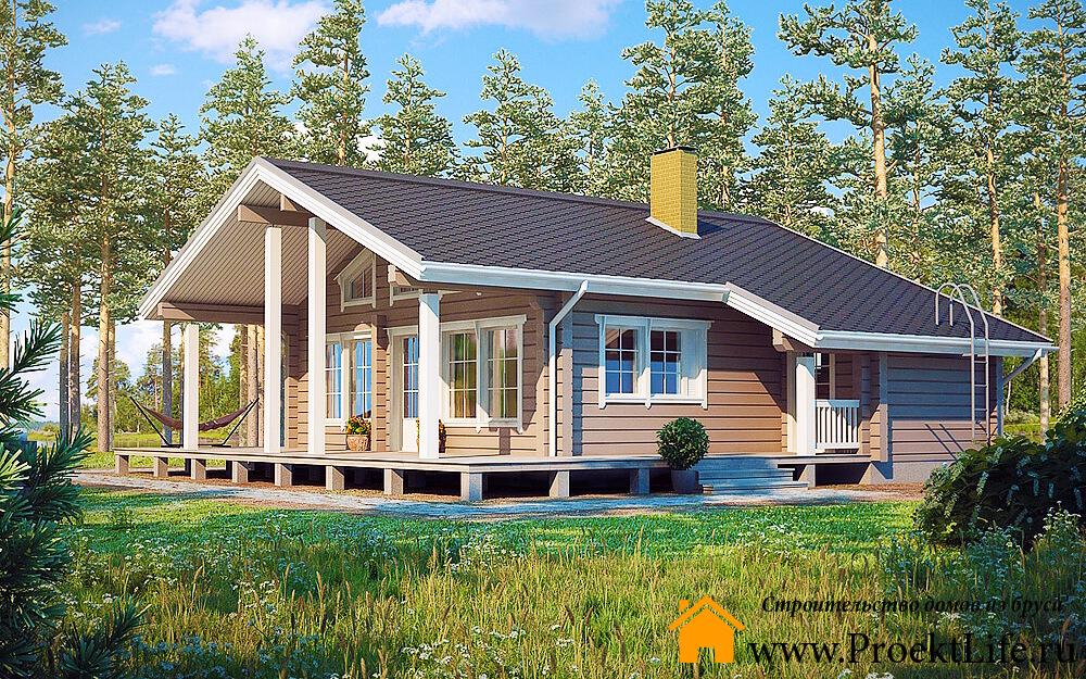 Загородные дома из бруса до 300 000 рублей