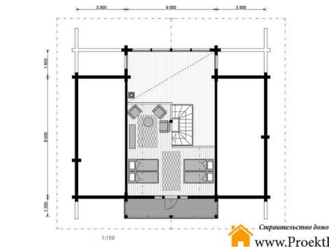 Дом из бруса с баней 160x160 мм
