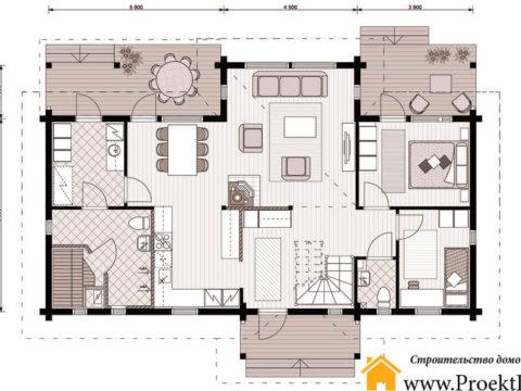 Дом из бруса 160x160 мм