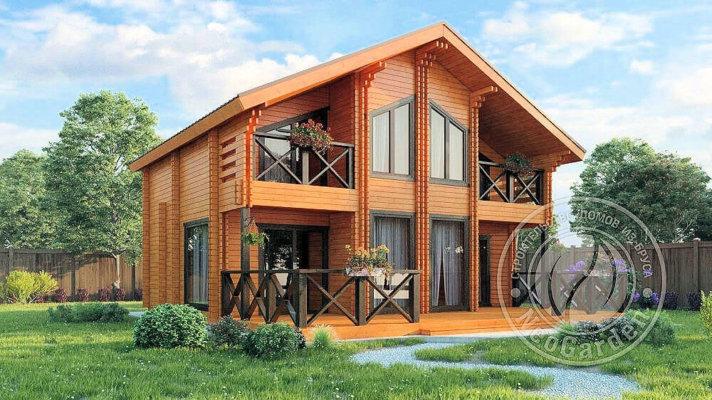Строительство домов из двойного бруса в Москве