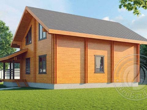 Загородный дом из двойного бруса