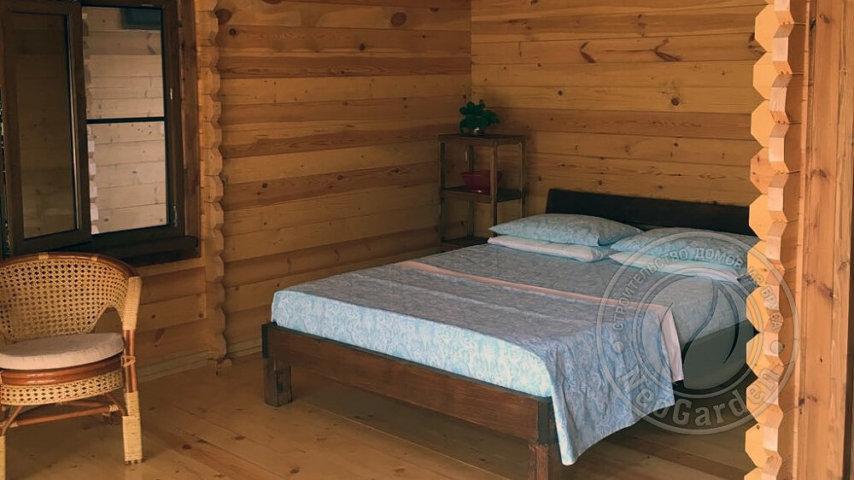 """Гостевой дом из мини бруса """"Подсолнух"""" двухместная спальня"""