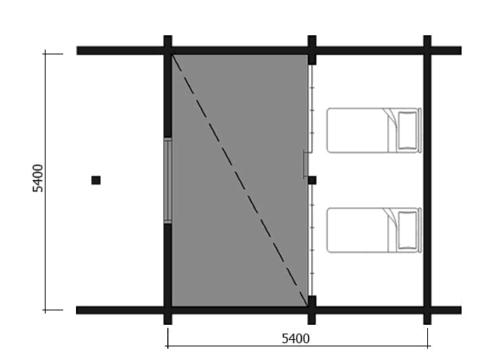 Планировка мансарды домика из бруса 70 мм