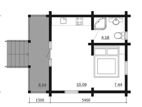 Планировка домика из бруса 70 мм