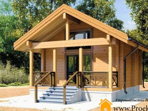 Загородный домик из бруса 70 мм