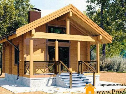 Дачный домик из бруса 70 мм
