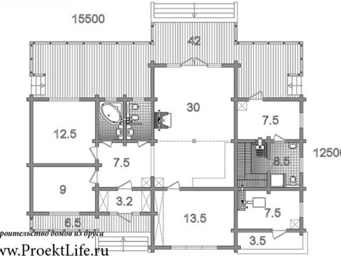 Дом из бруса 165x165 мм