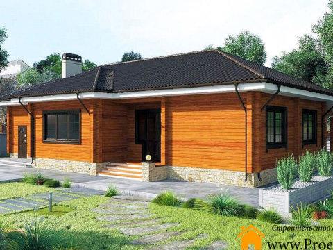 Загородный дом из бруса 165x165 мм