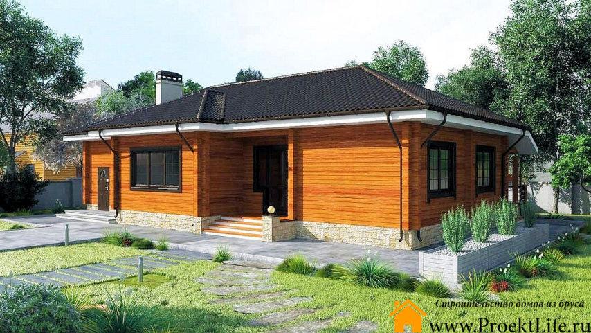 """Загородный дом из бруса 165x165 мм """"Омикрон"""""""