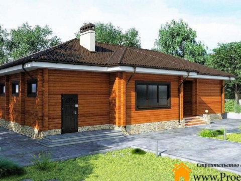 Частный дом из бруса 165x165 мм