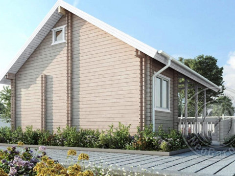 Частный дом из двойного бруса