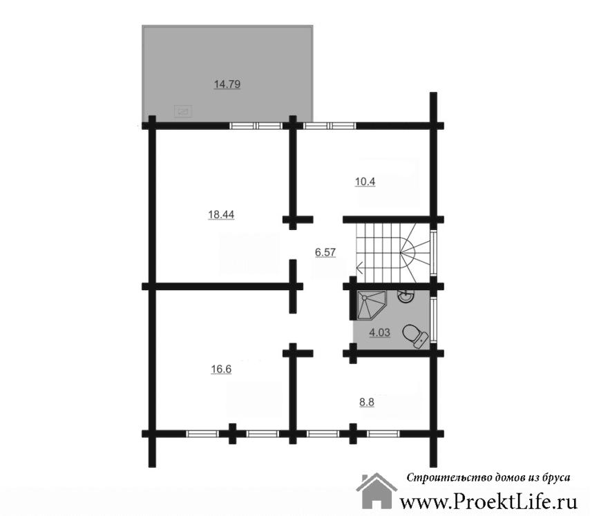дом из бруса Орфей план второго этажа