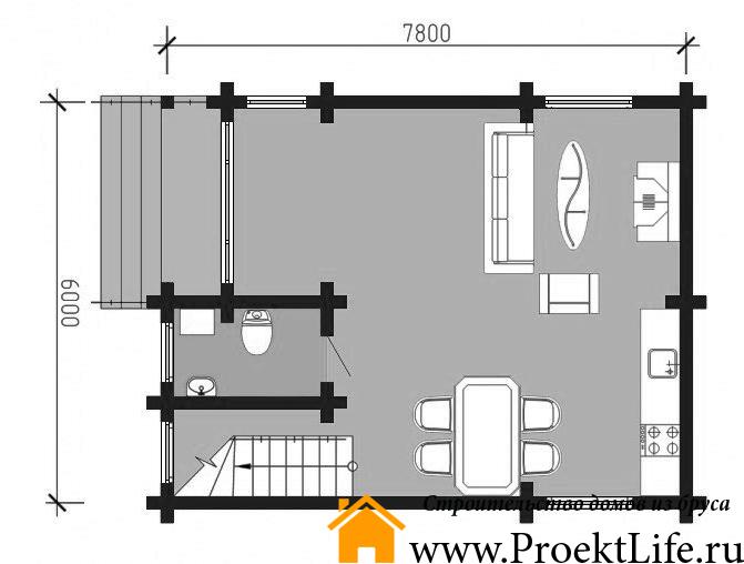 """Дом из бруса 165x165 мм """"Микеланджело"""" план схема"""