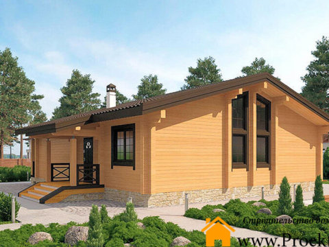"""Загородный дом из бруса 165x165 мм """"Лира"""""""