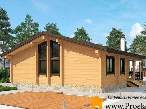 Дачный дом из бруса 165x165 мм