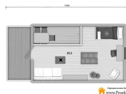 План мансарды этаж дома из бруса 70 мм