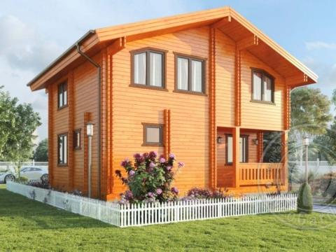 """Двухэтажный дом из двойного бруса """"Освальд"""""""