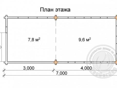 Дачная садовая беседка из мини-бруса 45 мм