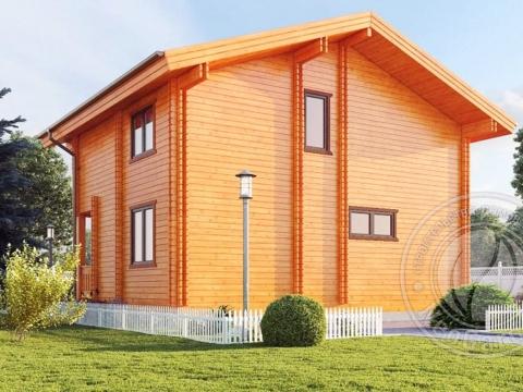 Двойной дом из бруса