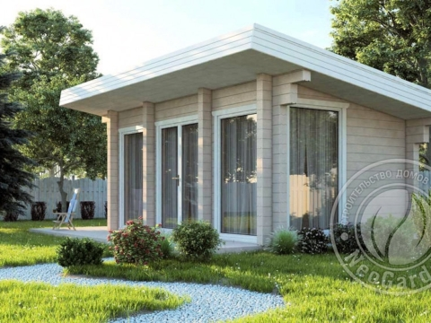 Загородный гостевой дачный дом из бруса 165 мм