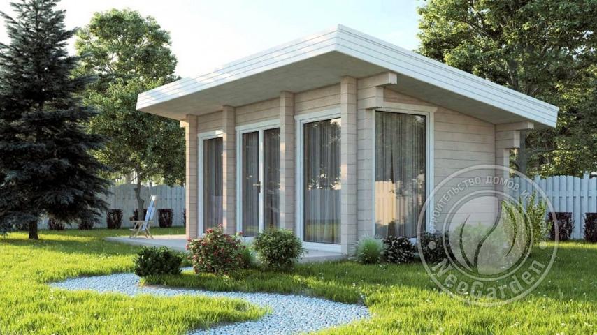 """Загородный гостевой дачный дом из бруса 165 мм """"Монтенегро"""""""