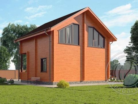 Загородный дачный дом из бруса на две семьи