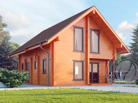 Гостевой дом из бруса 165 мм