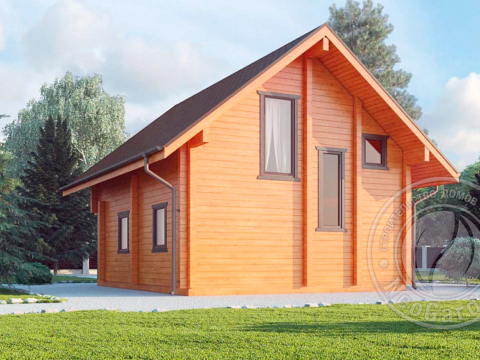 Дачный дом из бруса 165 мм