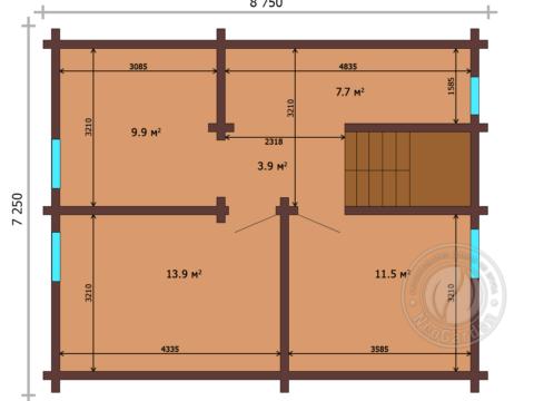Дом из бруса 165 мм