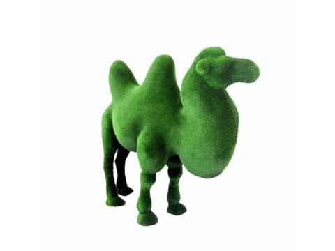 """Топиар """"Двугорбый верблюд"""" Садовая скульптура из искусственного топиари."""