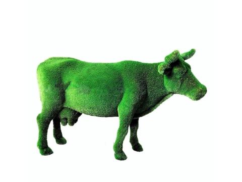 """Топиар """"Корова на лугу"""" Садовая скульптура из искусственного топиари."""