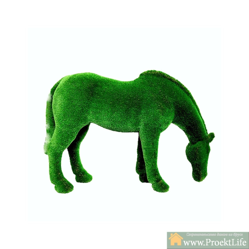 """Топиар """"Лошадь на лугу"""" Садовая скульптура из искусственного топиари."""