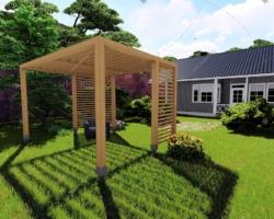 Летняя открытая садовая беседка — инструкция по строительству