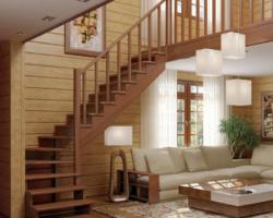 Готовая лестницы на второй этаж К‑001м‑1