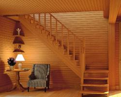 Готовая лестницы на второй этаж К‑002м‑1