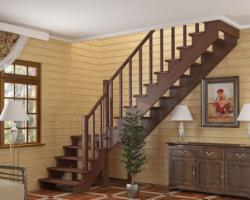 Готовая лестницы на второй этаж К‑002м‑2