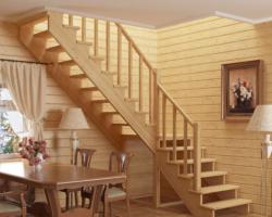 Готовая лестницы на второй этаж К‑002м‑3