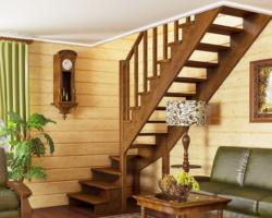 Готовая лестницы на второй этаж К‑001м‑3